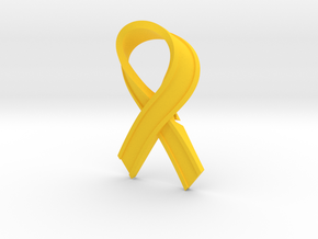 Yellow_Ribbon in Yellow Processed Versatile Plastic