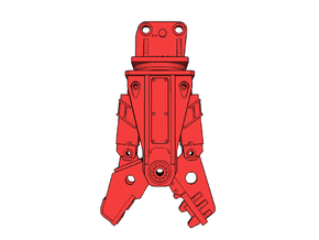 HO - Concrete Crusher for 25-35t excavators in Smooth Fine Detail Plastic