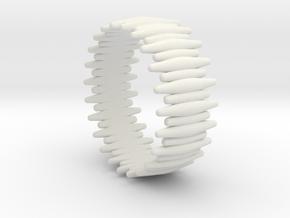 SABER TOOTH BANGLE 2.5IN ID in White Premium Versatile Plastic