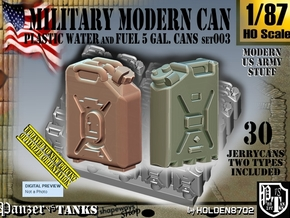 1/87 Modern Military FUEL+WATER Can Set003 in Smooth Fine Detail Plastic