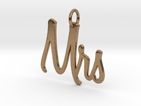 Mrs Pendant in Natural Brass