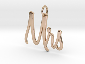 Mrs Pendant in 14k Rose Gold Plated Brass