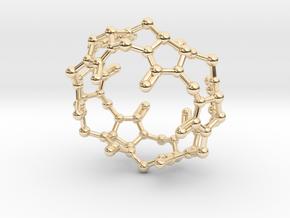 Cucurbituril CB[6] Molecule Pendant Small in 14K Yellow Gold