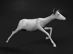 Impala 1:6 Running Female in White Natural Versatile Plastic