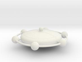 Omni Scale Franz Joseph Federation Starbase Small in White Natural Versatile Plastic