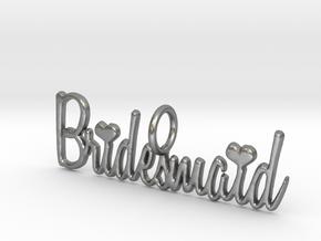 Bridesmaid Heart Pendant in Natural Silver