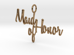 Maid of Honor Pendant in Natural Brass
