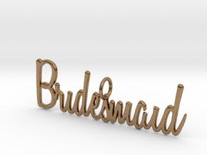 Bridesmaid Pendant in Natural Brass