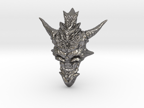 Dragon Head Pendant Top 01 in Polished Nickel Steel