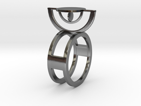 Sundial in Polished Silver