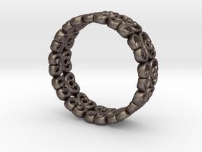 "Bracelet ""Bloom"" in Polished Bronzed Silver Steel: Small"