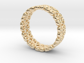 "Bracelet ""Bloom"" in 14k Gold Plated Brass: Small"