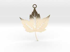 Forest Leaf Pendant in 14k Gold Plated Brass