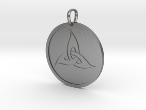 Triquetra Medallion in Natural Silver