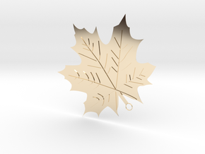 Maple Leaf Pendant in 14K Yellow Gold