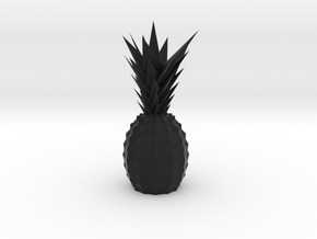 Mini Pineapple in Black Natural Versatile Plastic