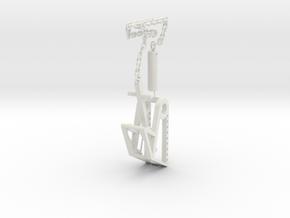 Trebuchet with chain in White Natural Versatile Plastic