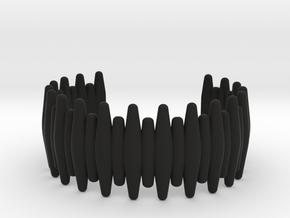 SABER TOOTH CUFF MEDIUM in Black Premium Versatile Plastic