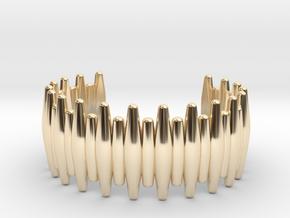 SABER TOOTH CUFF MEDIUM in 14k Gold Plated Brass