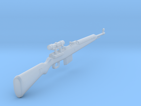 Gewehr 43 Scoped  (1:18 scale) in Smooth Fine Detail Plastic: 1:18