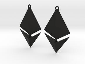 Ethereum Earring Pendants in Black Natural Versatile Plastic