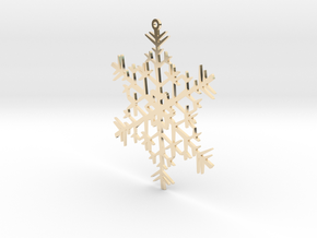 Snowflake Ornament in 14K Yellow Gold
