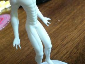 Alien Figurine in White Natural Versatile Plastic