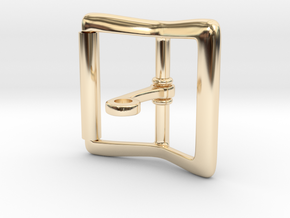 Locking Tongue Roller Buckle (4cm) in 14k Gold Plated Brass