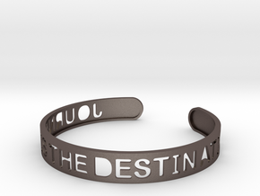 The Journey Is The Destination (TM) Bangle in Polished Bronzed Silver Steel