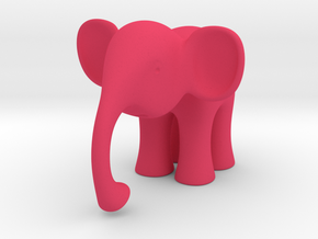 Elephant in Pink Processed Versatile Plastic