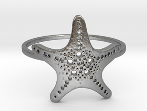 Starfish Ring Size 7 in Natural Silver: 7 / 54