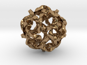 Knot Berry in Natural Brass (Interlocking Parts)