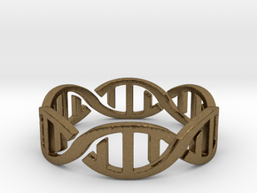 DNA Ring Size 7 in Natural Bronze: 7 / 54