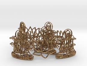 Buddah Bracelet 24 cm in Natural Brass (Interlocking Parts)