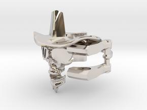 Cowboy Skull Size 9.5 in Platinum