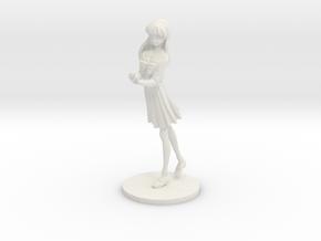 1/24 High School Girl in Winter Uniform 01 in White Natural Versatile Plastic