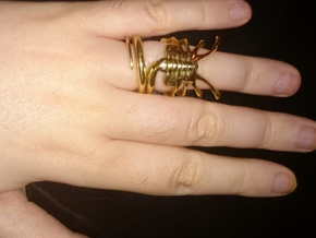 ALIENS Facehugger Ring in Polished Brass: 4.5 / 47.75