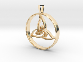 Triquetra Pendant in 14K Yellow Gold