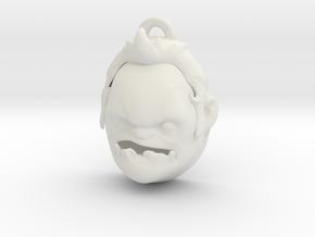 Pudge head DOTA 2 pendant in White Natural Versatile Plastic