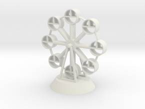 Ferris wheel in White Natural Versatile Plastic
