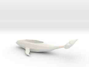 Whale Planter in White Natural Versatile Plastic
