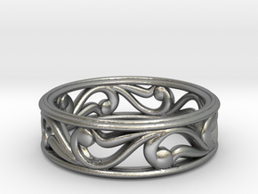 "Bracelet ""Move"" in Natural Silver: Small"