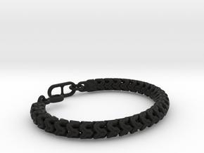 Y-LINK BEAD BRACELET 12-4-17 in Black Natural Versatile Plastic