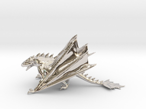 Dragon Model in Rhodium Plated Brass: Medium