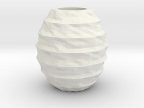 Geometric RockyVase in White Natural Versatile Plastic