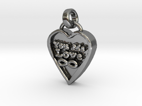 You Me Love Forever in Polished Silver (Interlocking Parts)