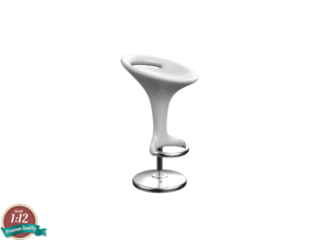 Miniature Barstool Discovery - Bontempi  in White Natural Versatile Plastic: 1:12