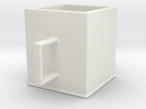 Cup in White Premium Versatile Plastic: Small