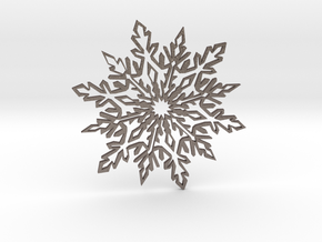 Snow_flake in Polished Bronzed Silver Steel