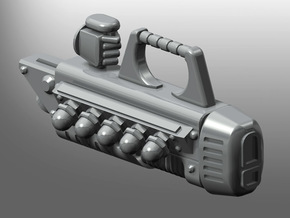 Human-sized Plasma Coilcannon x5 in Smooth Fine Detail Plastic